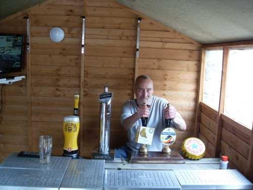 Beer festival garden bar