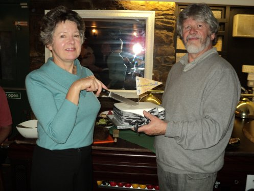 Founder member of the branch Jenny Greenhalgh and chairman Mick Dillon
