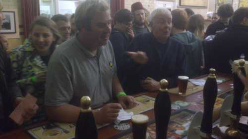 In the grey shirt: Andrew Murphy, brewer, Three Peaks