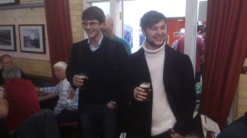 Stu Ball (left) and Johnny Read from Marble Brewery