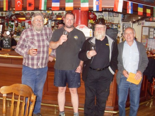 Members of the Lunesdale branch with Gareth