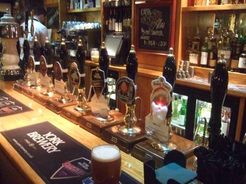 The array of Christmas ales at the Water Witch