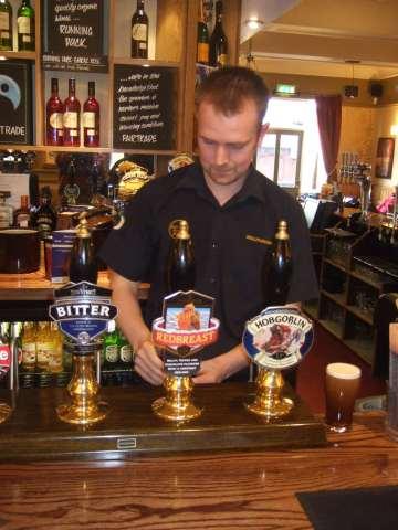Chris the barman in the Bellflower