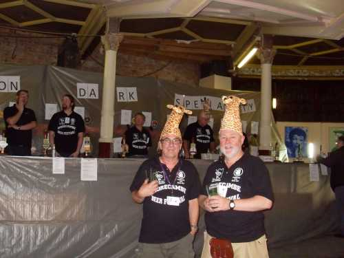 Some laddies from Glasgow came to help out. GiRAF=Glasgow Real Ale Festival. Geddit?