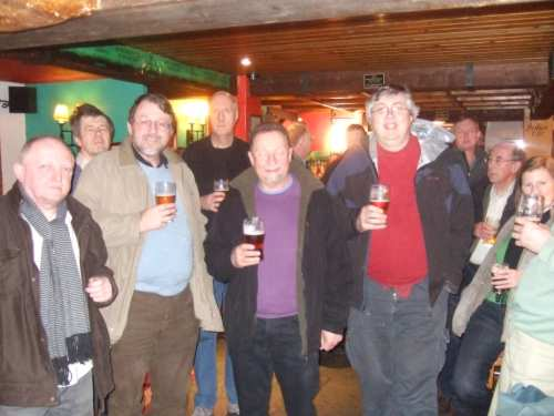 The West Lancashire branch of CAMRA on a pub-crawl around Garstang with Lunesdale branch member Martin Sherlock