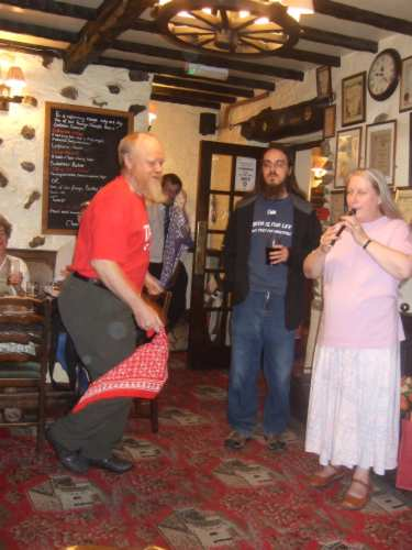 Peter and Anne entertaining us in the absence of the Furness Morris Men