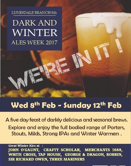 Dark and Winter Ales Week 2017