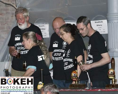 The organisers: George Palmer, Ann Tanner, Mike Dennison, Anne Stewardson. Mike Brandwood