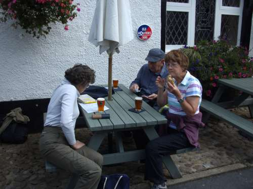 Lunch outside the Punchbowl (Churchtown)
