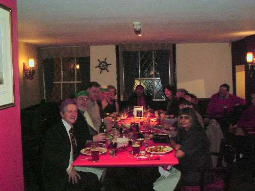 21 December 2005: the second Christmas dinner, Three Mariners